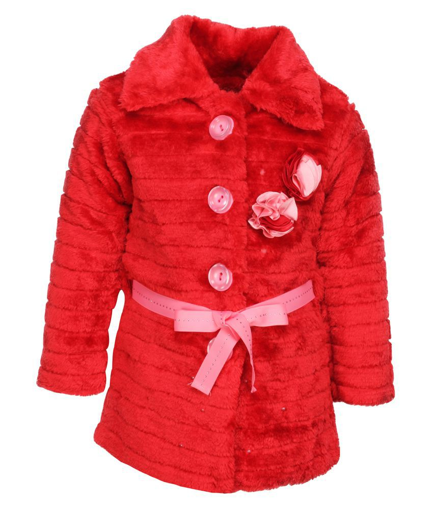 Cutecumber  Partywear Winter  Girls  Red Jacket