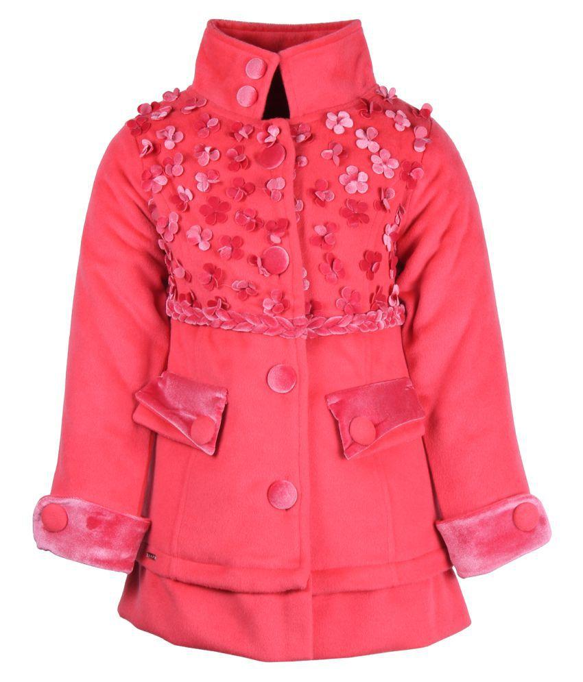 Cutecumber Pink Polyester Winter Coat