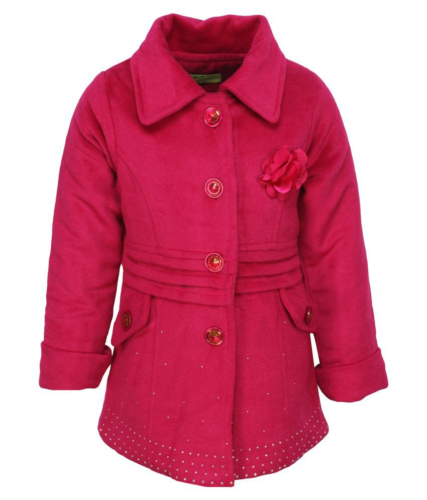 Cutecumber Pink Polyester Winter Jacket
