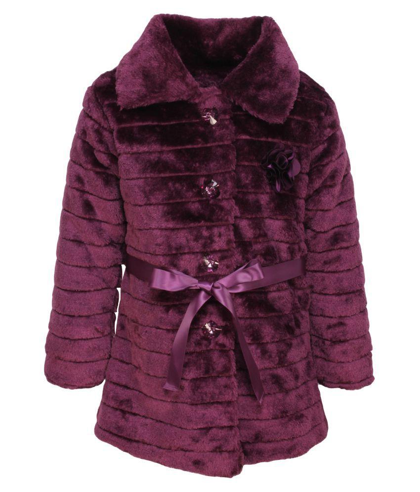 Cutecumber Purple Polyester Winter Jacket