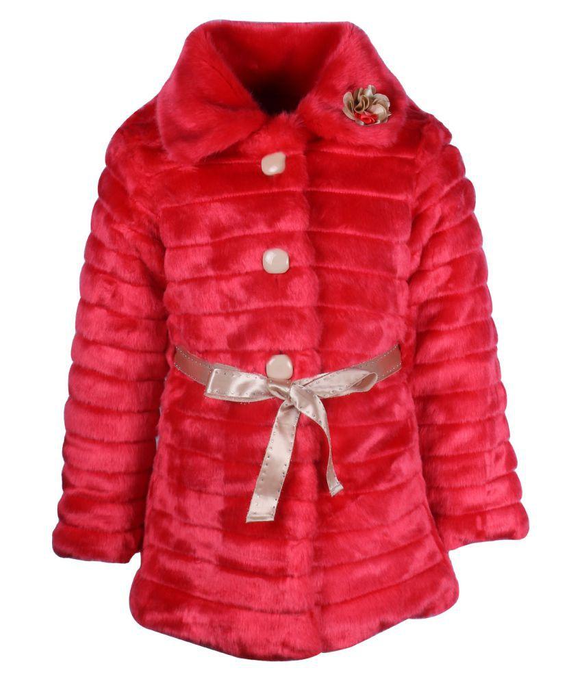 Cutecumber Red Polyester Coat Single