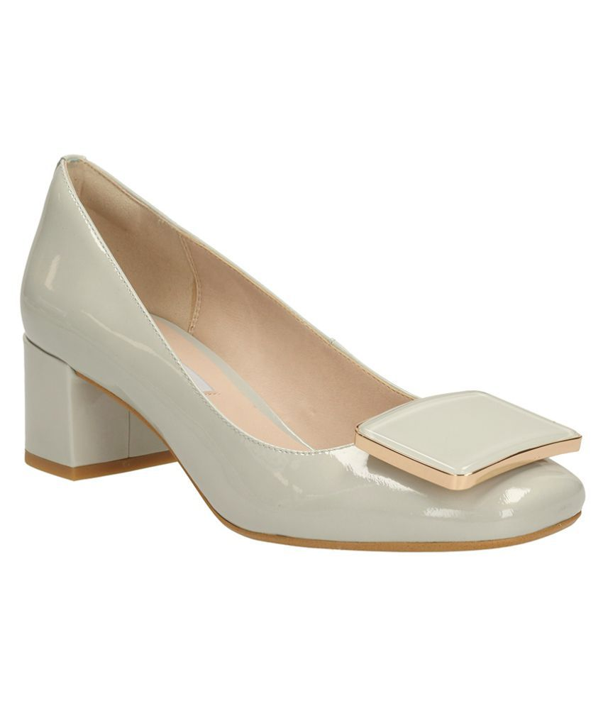 0b0ee134ad6 Clarks White Block Heels Price in India- Buy Clarks White Block Heels  Online at Snapdeal