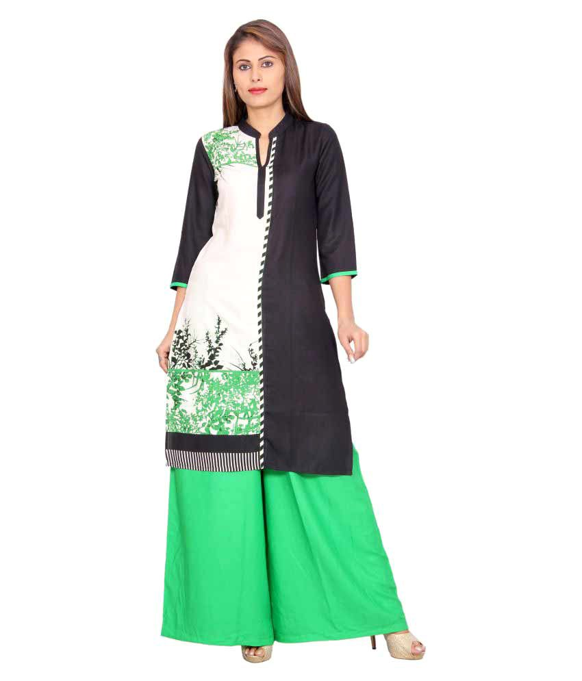 Rama Multicoloured Rayon Straight Stitched Suit