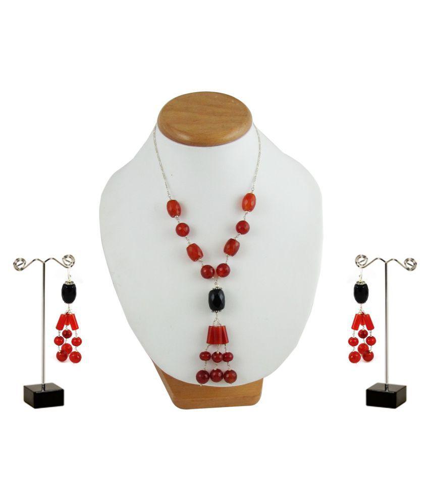 Factorywala 92.5 Silver Necklace Set