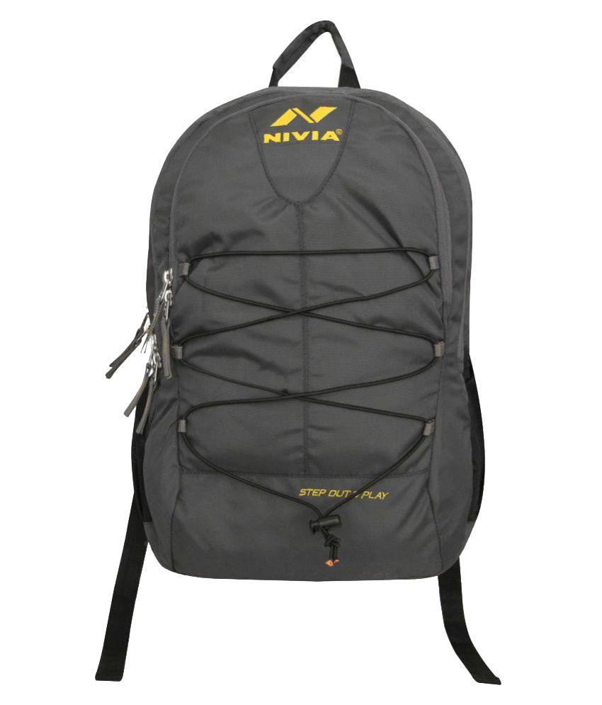 Nivia Dark Grey Backpack-5155dg