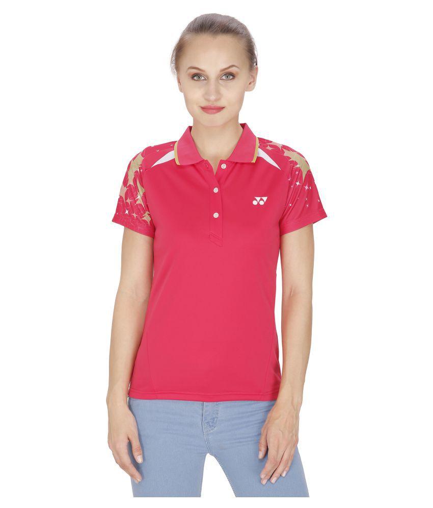 Yonex Badminton Women's Tshirt's PL6-20265-Raspberry (Large)
