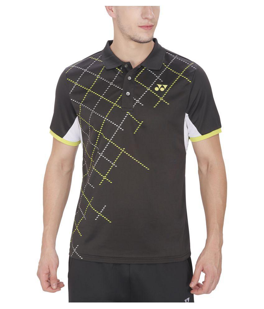 Yonex Black Polo T-Shirt