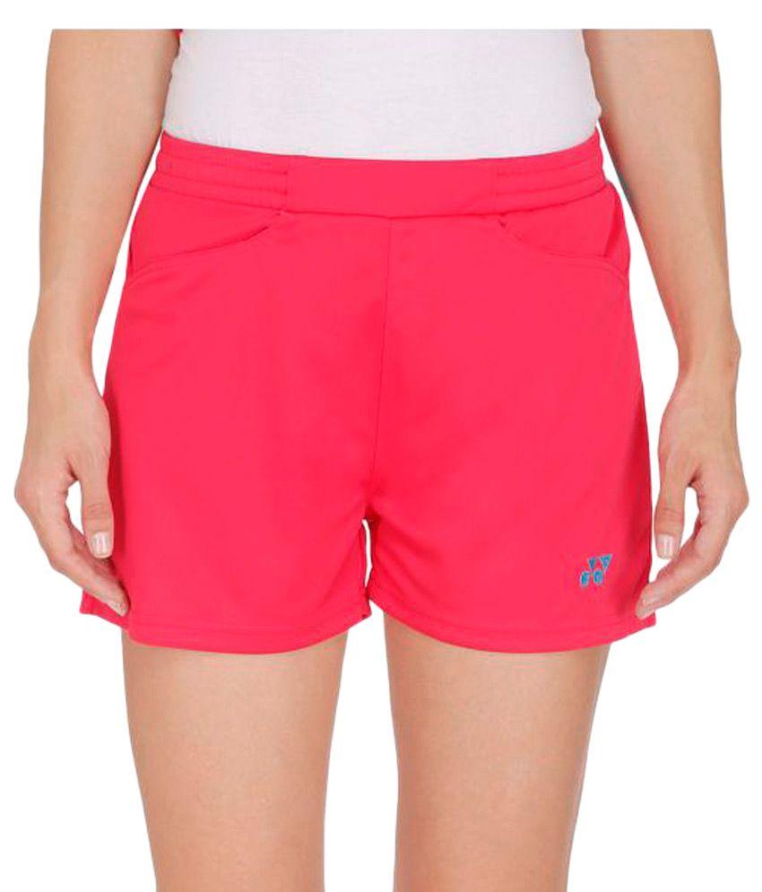 Yonex Pink Polyster Shorts