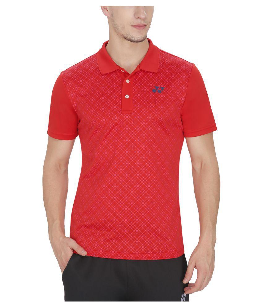 Yonex Red Polo T-Shirt