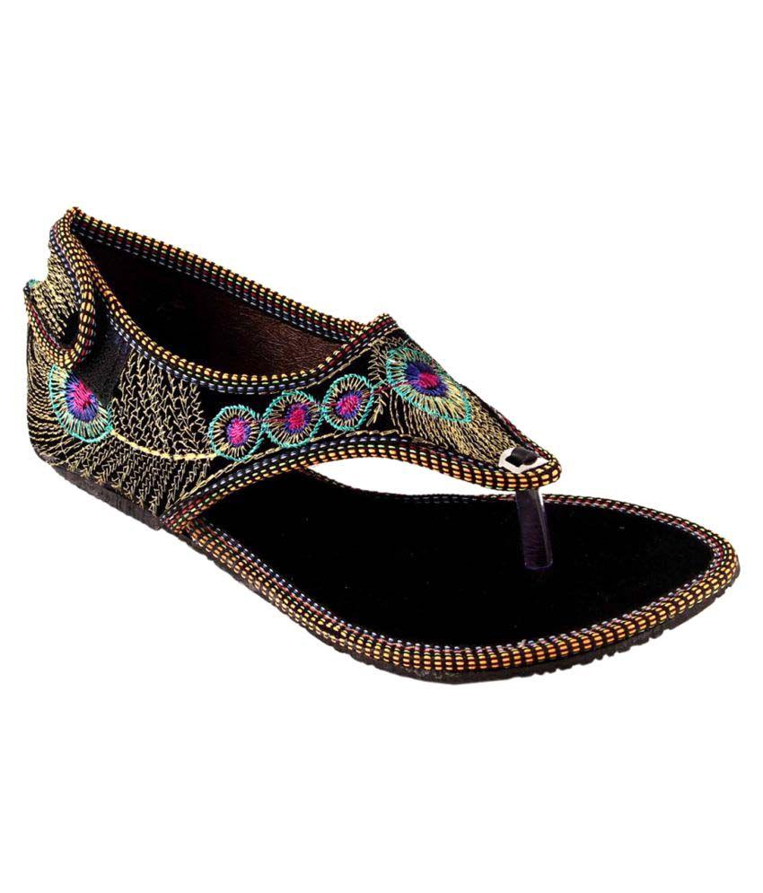 Babesa Black Flat Heels