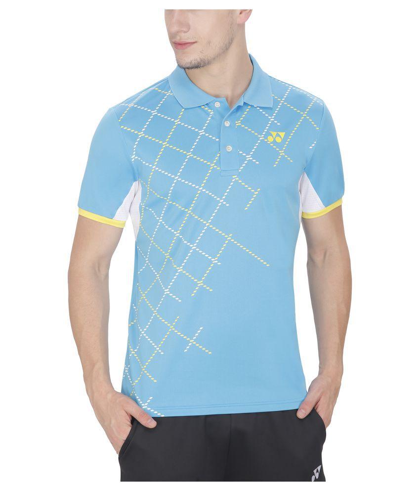 Yonex Blue Polyester T-Shirt