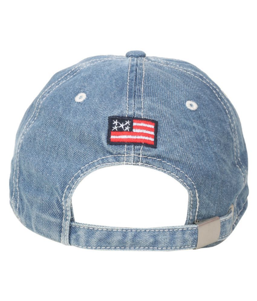 b3c294588e8 U.S. Polo Assn. Blue Printed Cotton Caps - Buy Online   Rs.