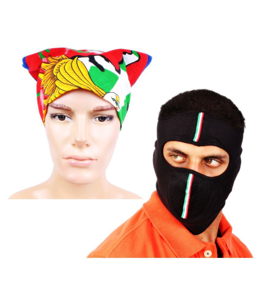 Sushito Multi Plain Polyester Headwraps with Mask