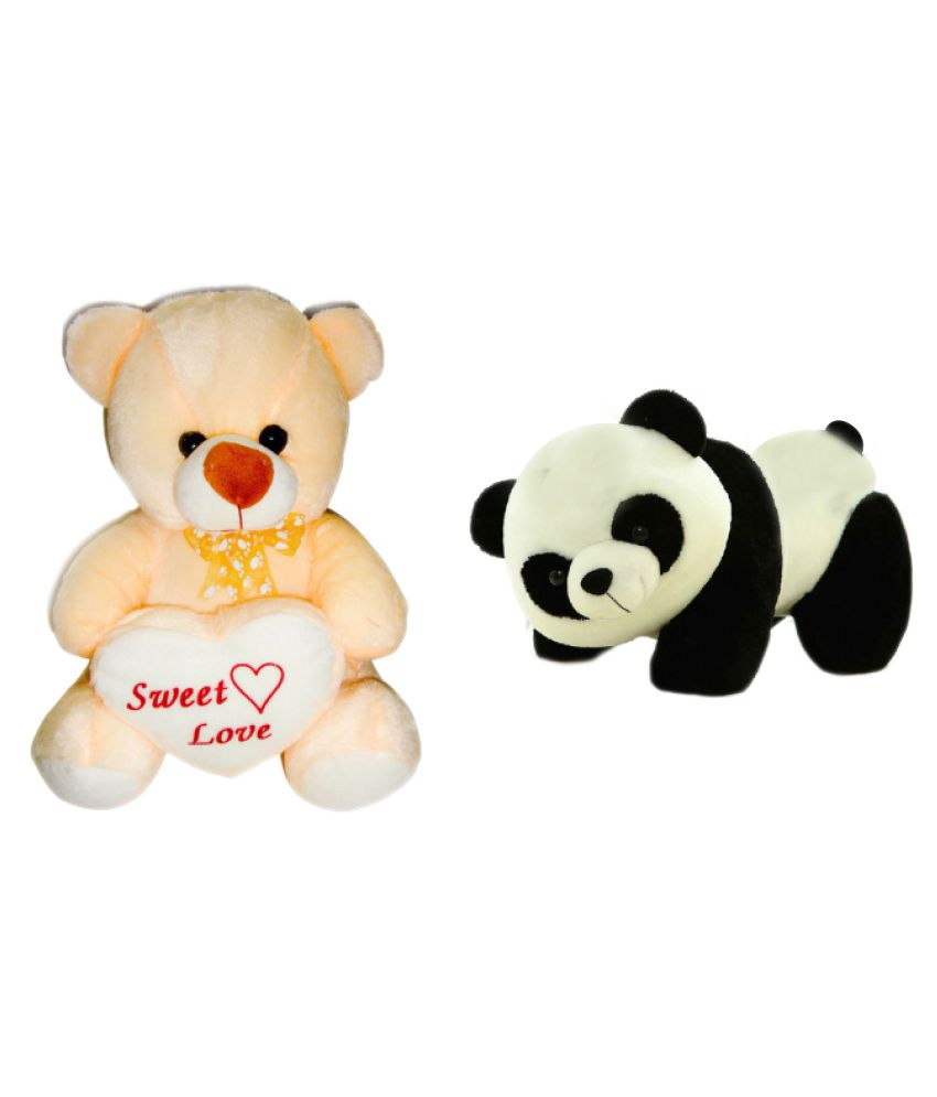 c59dd96b48f0 Deals India Multicolored George Teddy Bear And Panda Soft Toy - Buy Deals  India Multicolored George Teddy Bear And Panda Soft Toy Online at Low Price  - ...