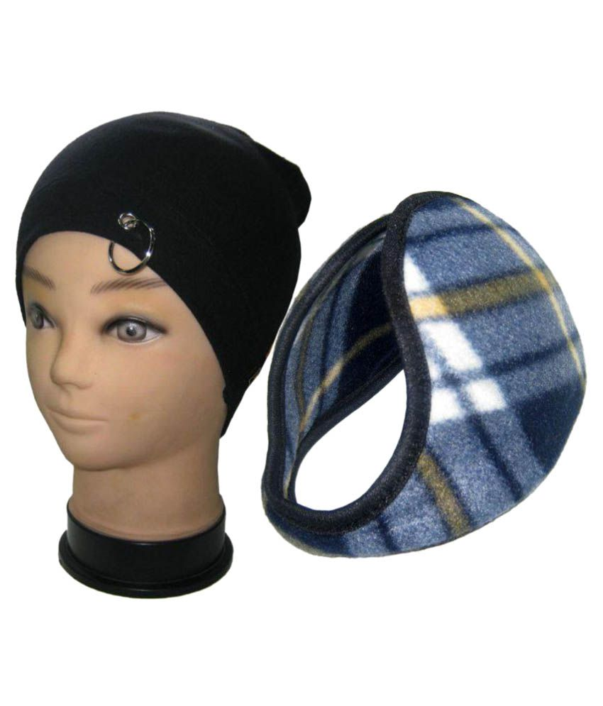 75a1189af6a Goodluck Multi Plain Wool Caps with Ear Warmer - Buy Online   Rs ...