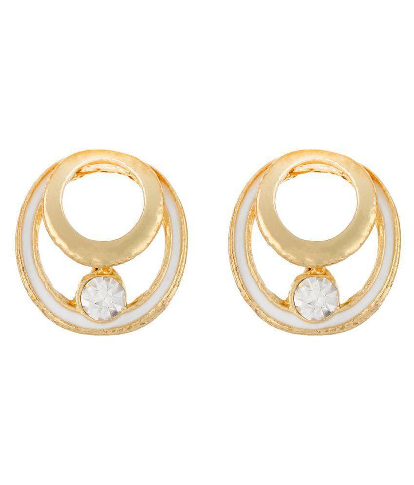 OSF Golden Alloy Stud Earrings
