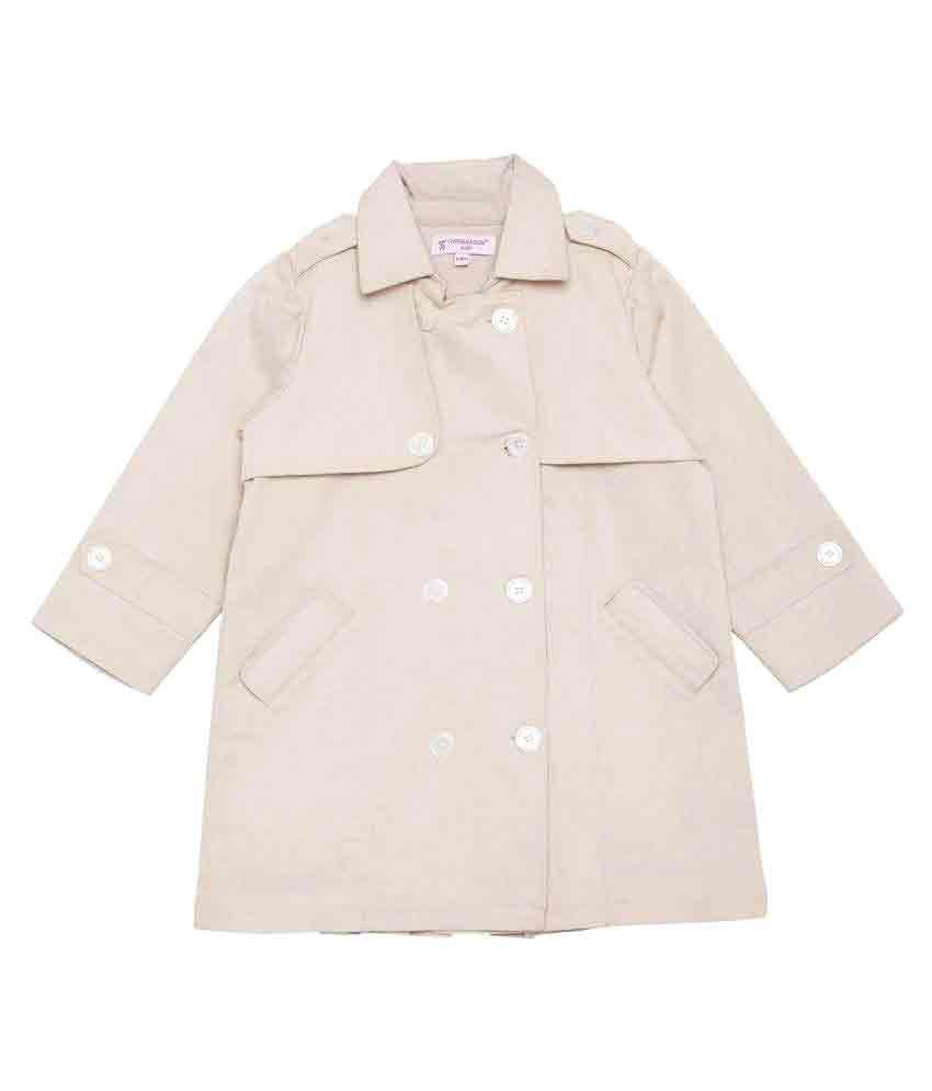 Hypernation Beige Cotton Breasted Coat