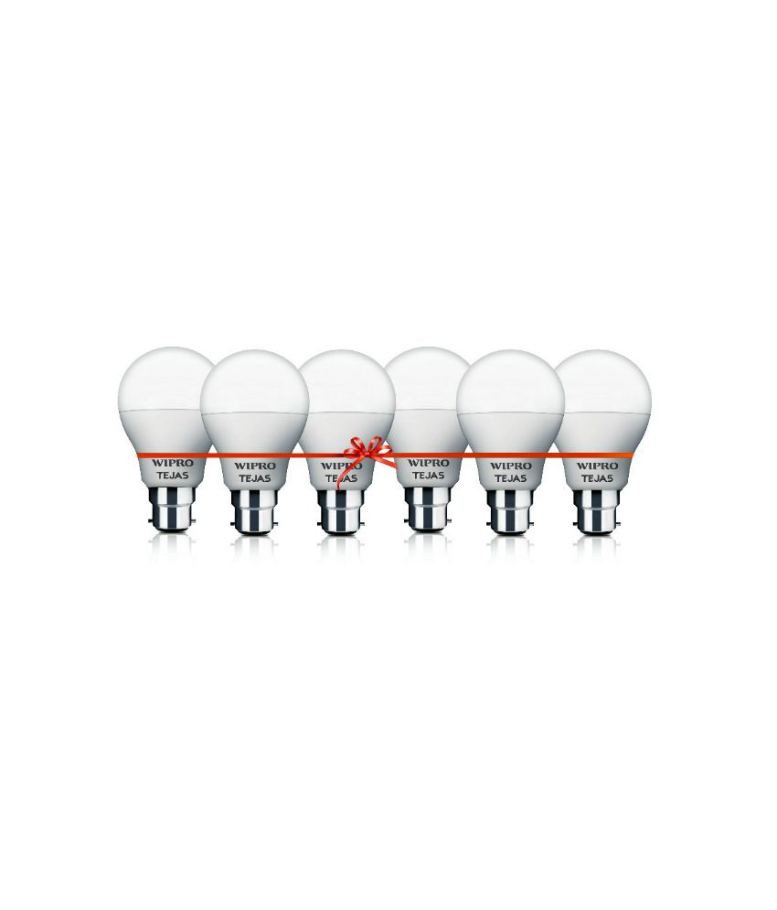 Wipro 9W Pack of 6 Led Bulbs - Cool Day Light