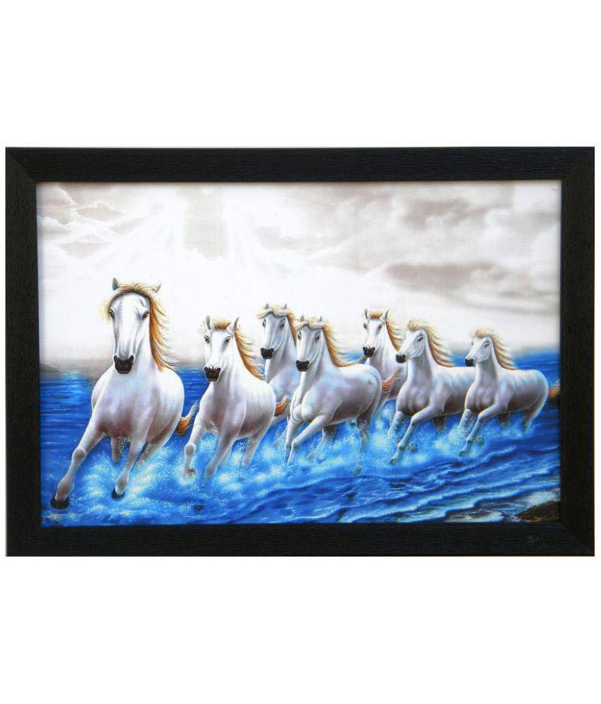 Amazing Collections Horse Painting Acrylic Painting With Frame Single Piece