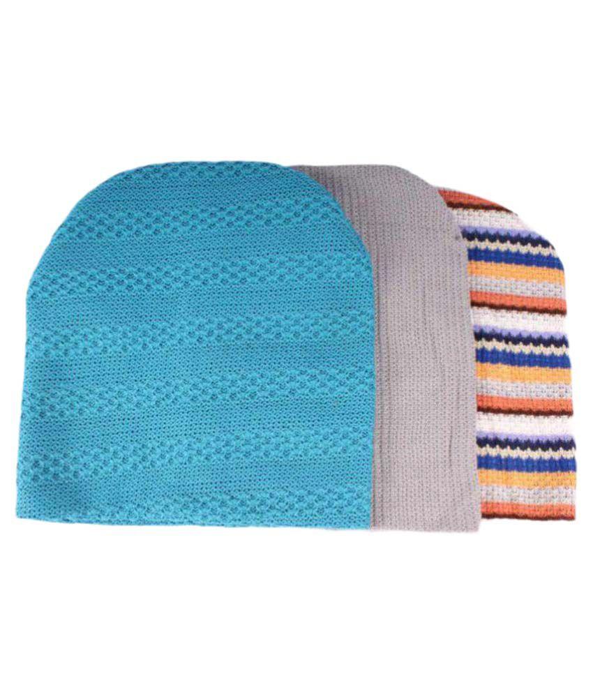 Sushito Multi Striped Wool Caps