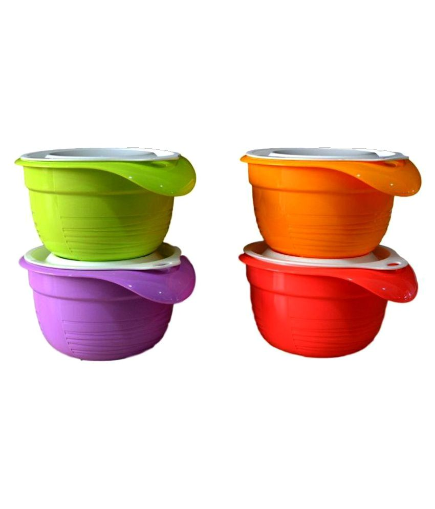 Tupperware Versa bowl Polyproplene Food Container Set of 4: Buy ...