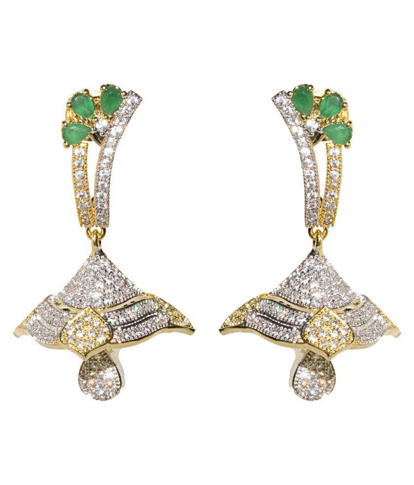 Jewellerkaka Multicolour Hanging Earrings - Pair of 2