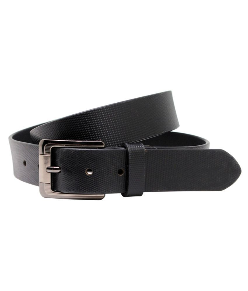 Urban Vintage Black Leather Casual Belts