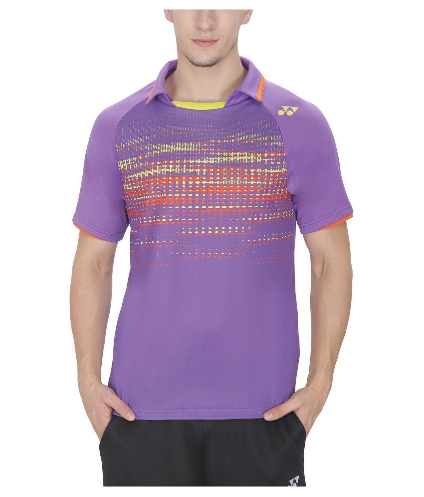 Yonex Purple Polyster T-Shirt