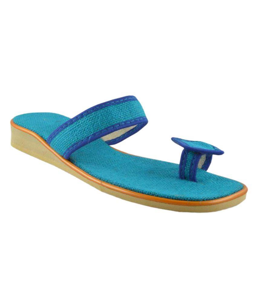 Bro Blue Flat Flats