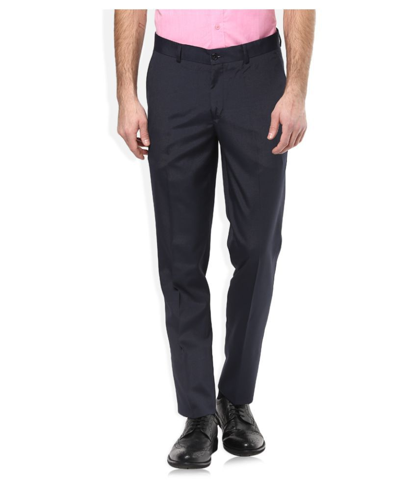 John Players Blue Skinny Flat Trousers