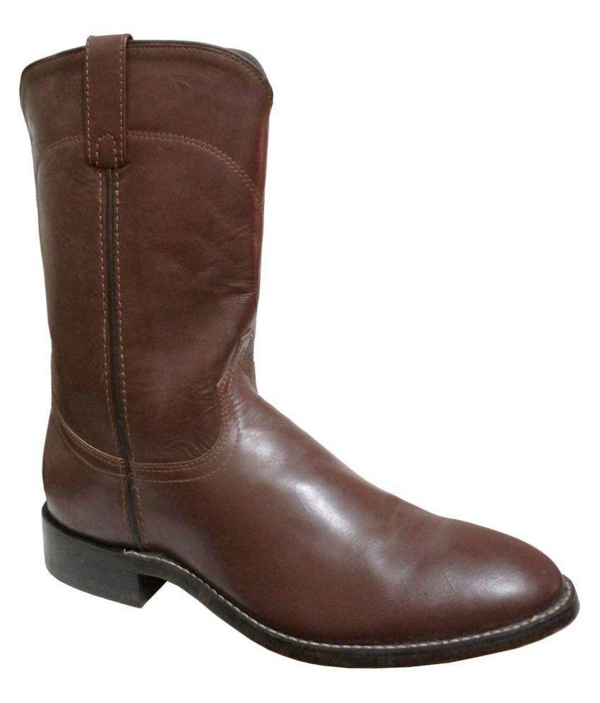 Maine Haiten Tobacco Cowboy Boot