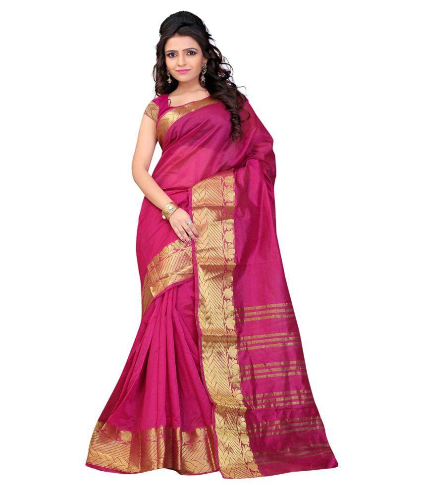 b6bdc0257b Jay Fashion Pink Banarasi Silk Saree - Buy Jay Fashion Pink Banarasi Silk  Saree Online at Low Price - Snapdeal.com