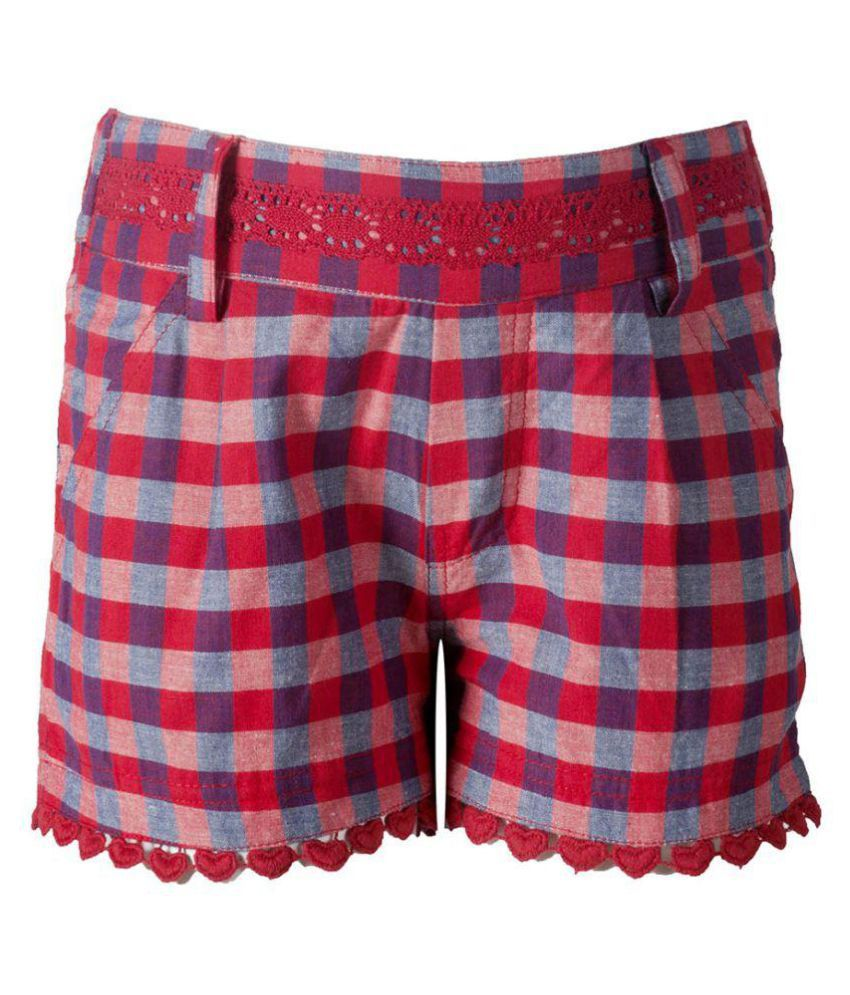 Naughty Ninos Multicolor Cotton Hot Pants