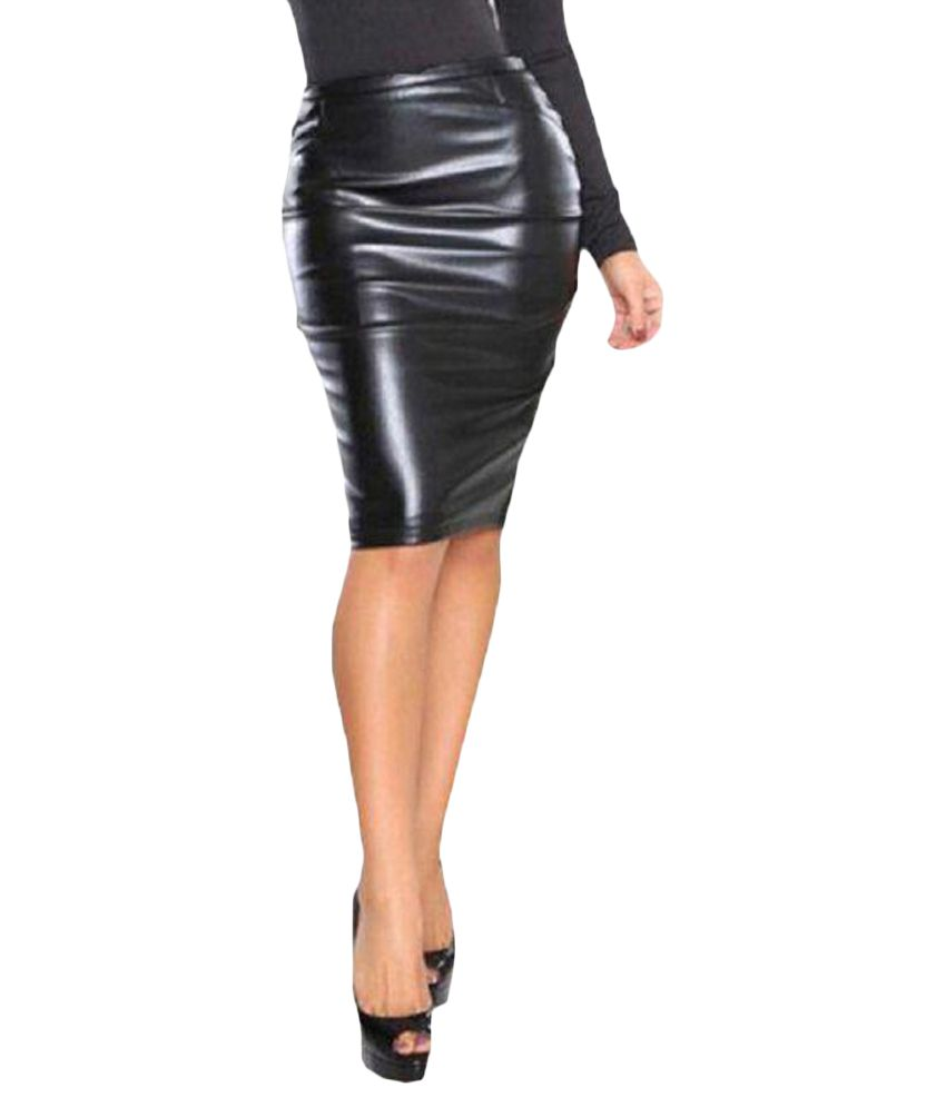 a74a8c0f8342 Buy Timbre Faux Leather Pencil Skirt Online at Best Prices in India -  Snapdeal