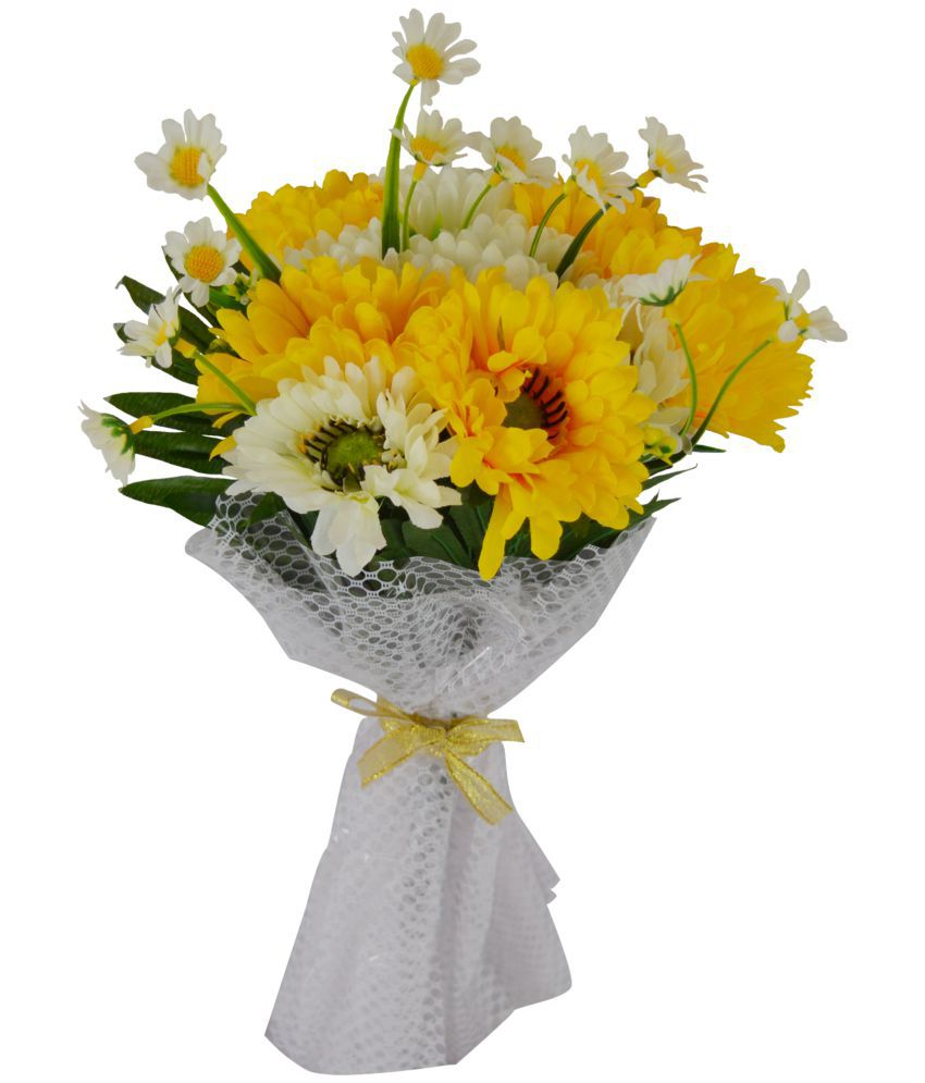 The Fancy Mart Gerbera Flowers Bouquet Multicolour Artificial Flower
