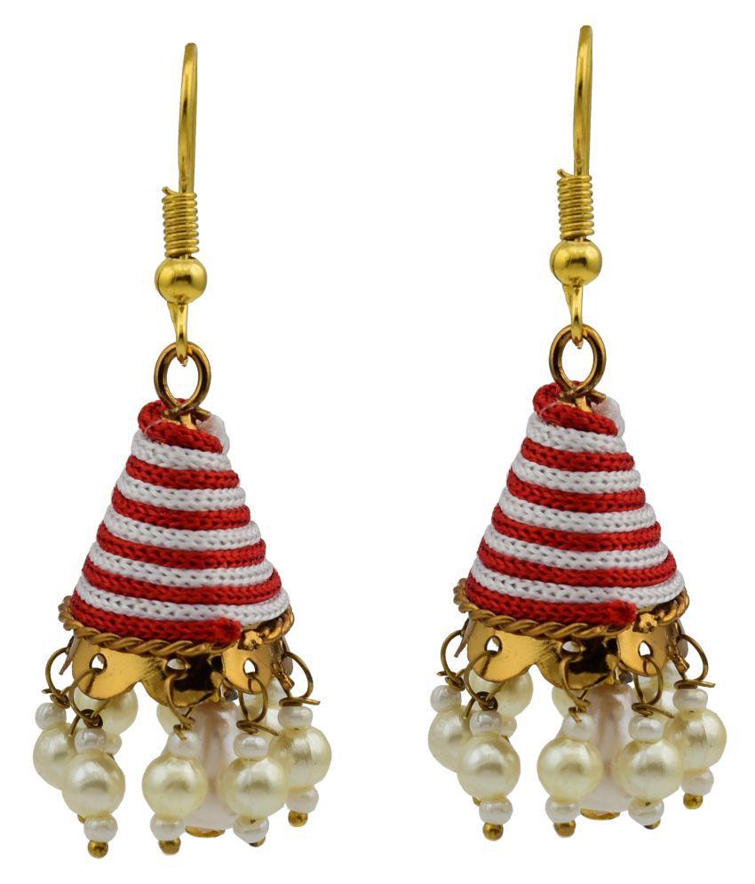 High Trendz Multicolor Traditional Jhumki Earrings