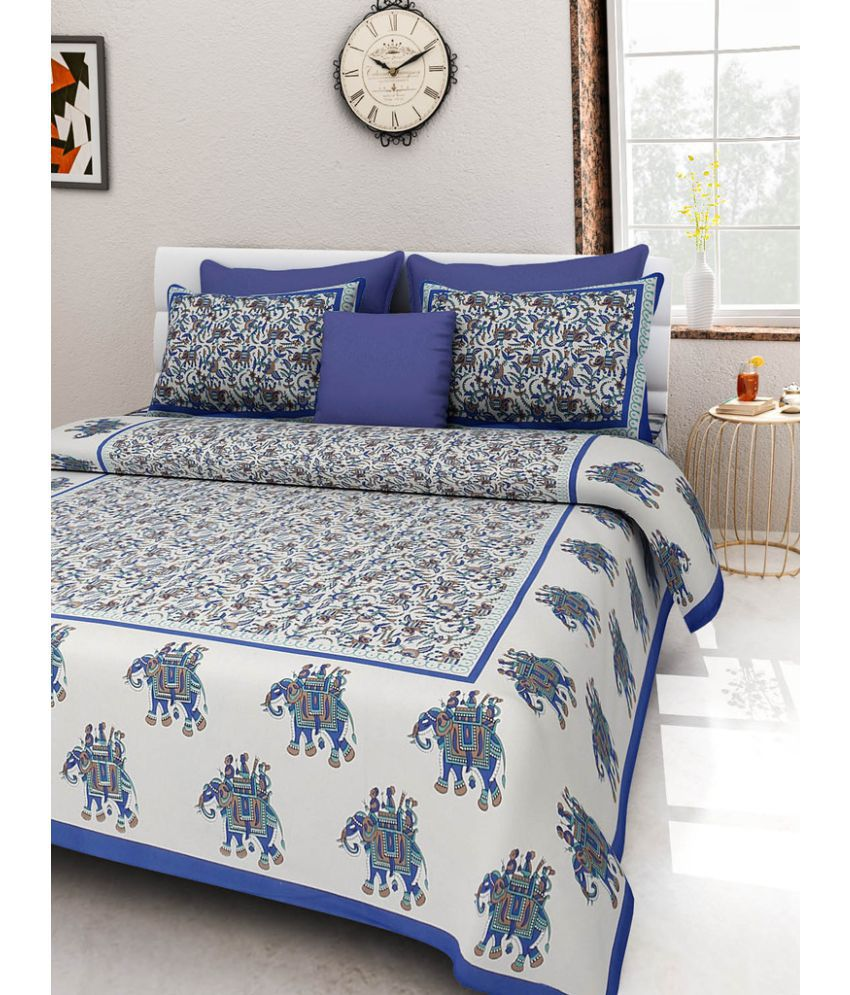 UniqueChoice King Cotton Multi Traditional Bed Sheet