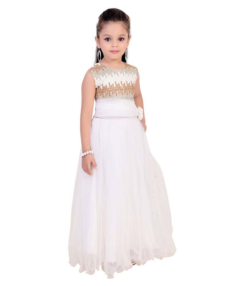 9d112cbb409 Fusion India White Gown for Girls - Buy Fusion India White Gown for ...
