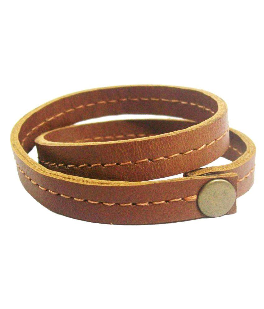 Shopper Zone Tan Faux Leather Bracelet