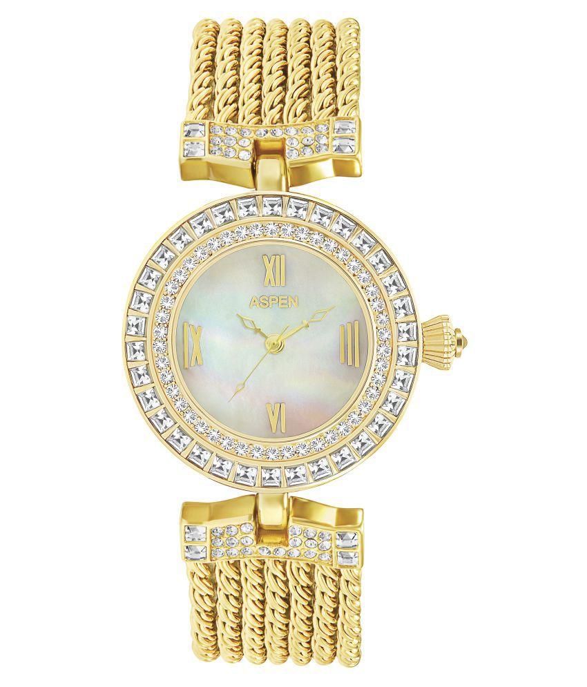 Aspen Gold Analog Watch