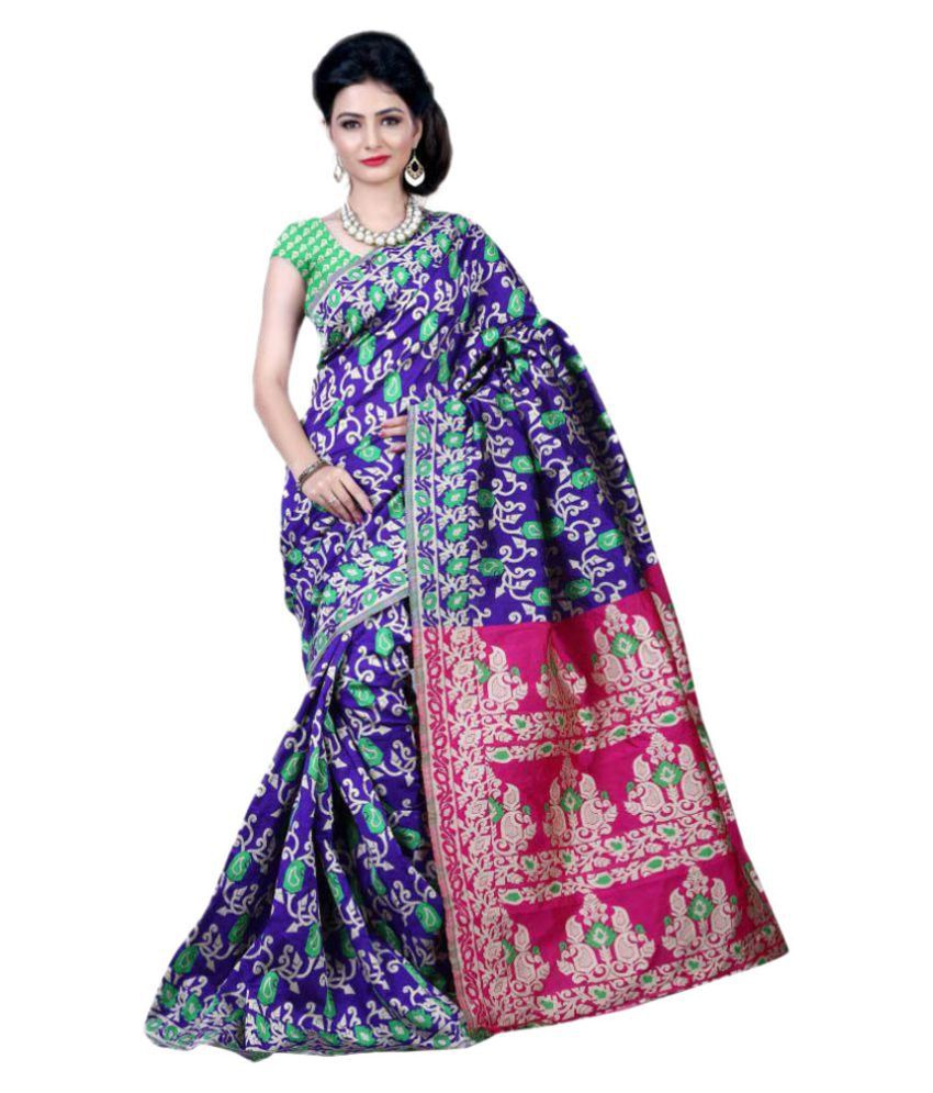 Ladies Flavour Blue Banarasi Silk Saree