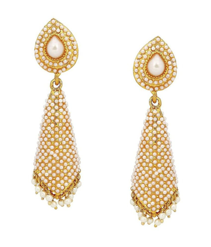 Youbella Gold Plated Hanging Earrings