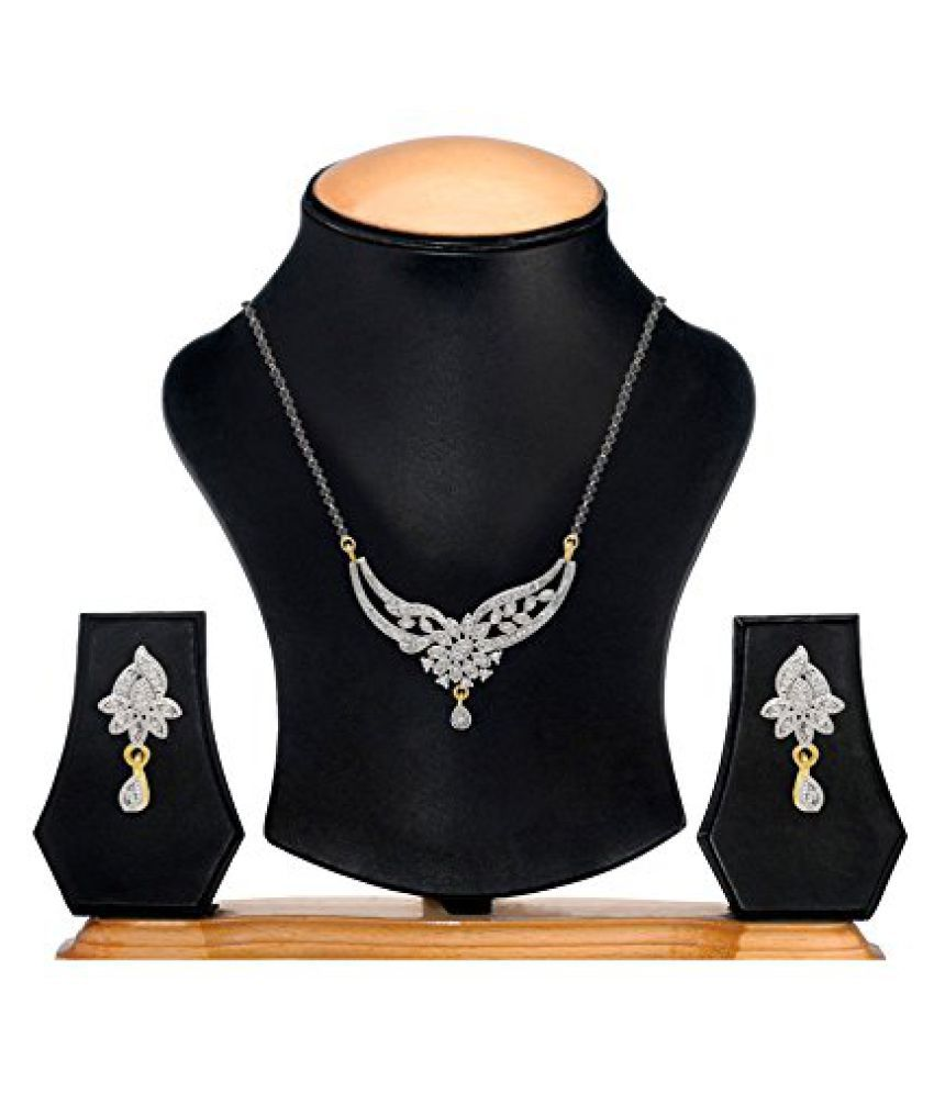 YouBella Multicolour Alloy Mangalsutra Set