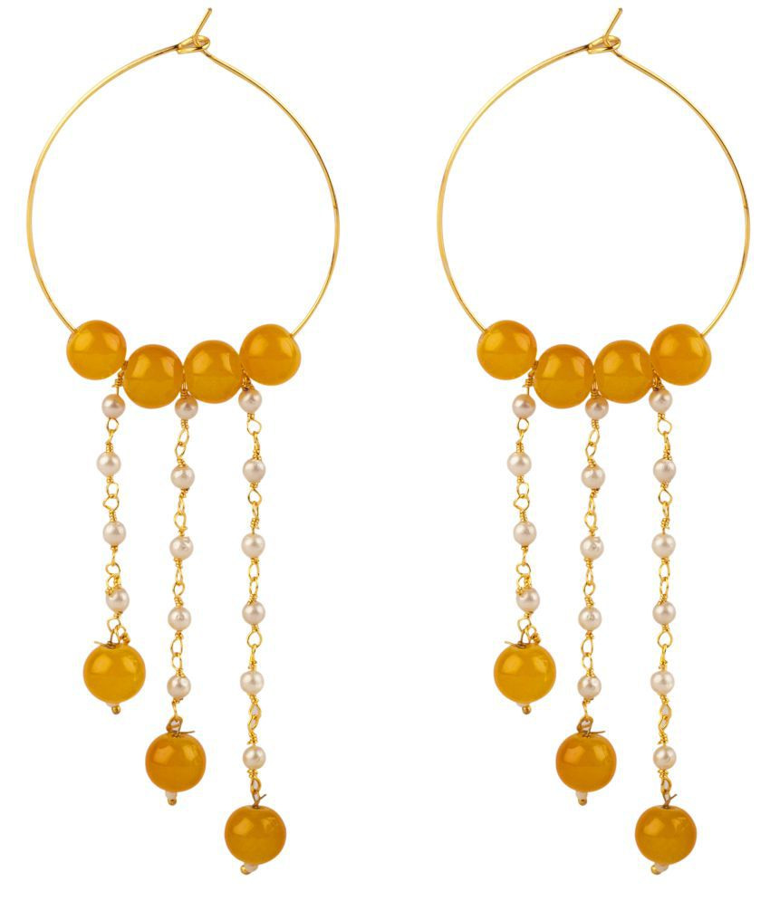 Makezak Yellow  Hangings Earrings