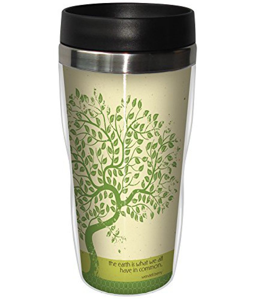 Tree-Free Greetings Ceramic Travel Mug 1 Pcs 475 ml