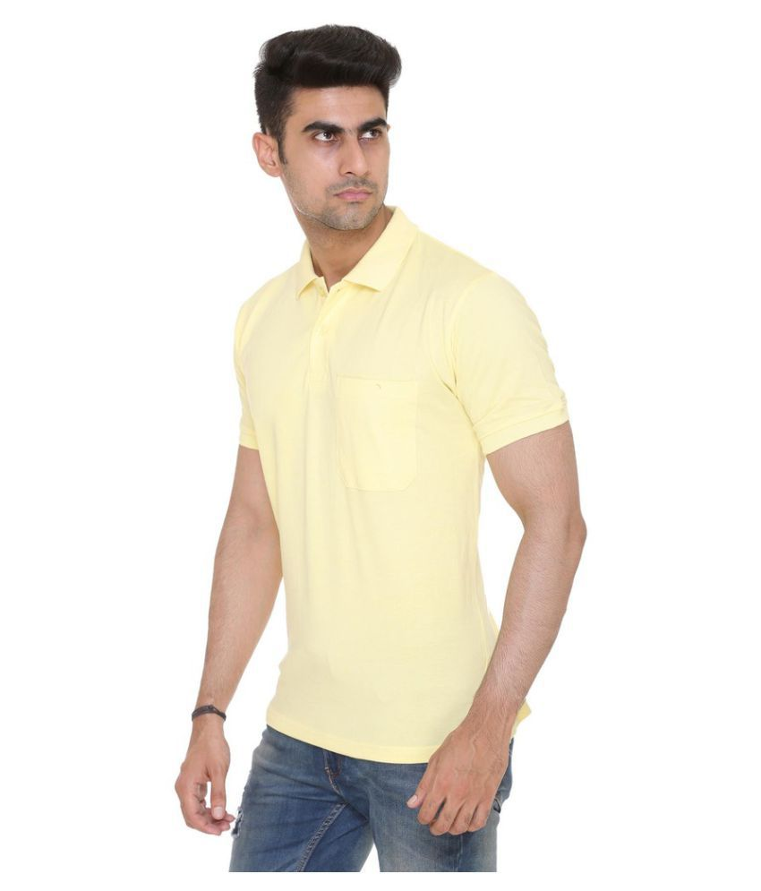 92489be2da55 Colors & Blends Yellow Regular Fit Polo T Shirt - Buy Colors ...