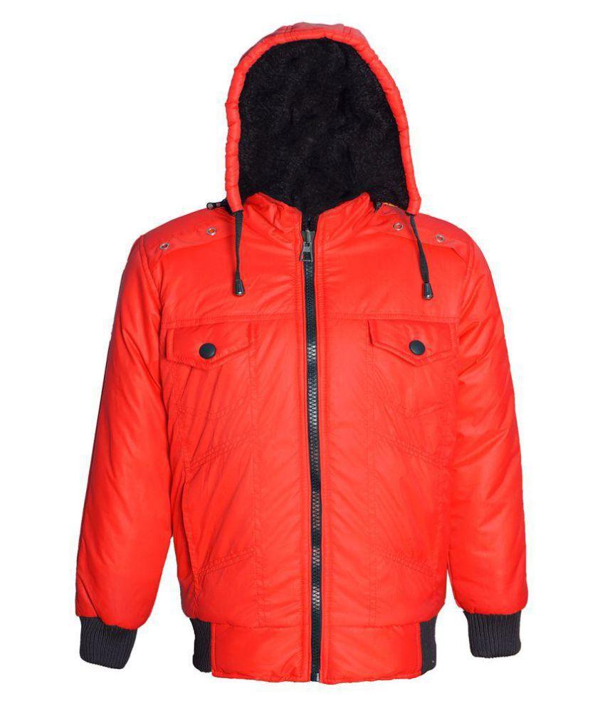 Naughty Ninos Red Hooded Bomber Jacket