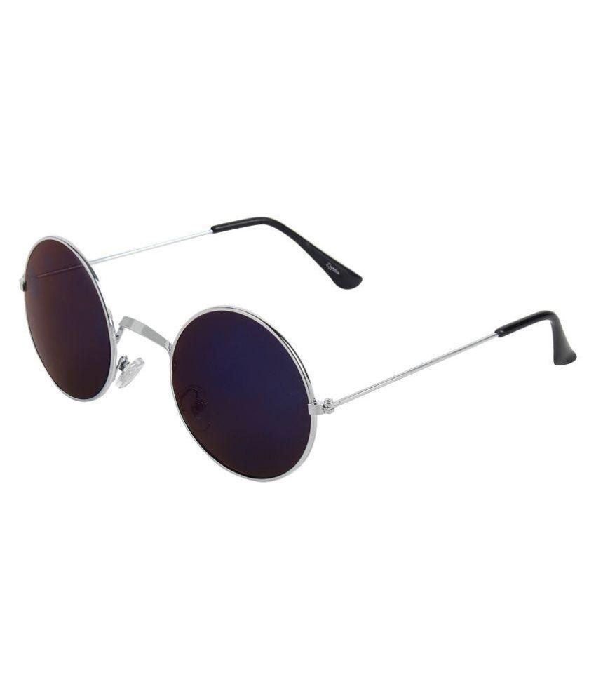 Zyaden Blue Round Sunglasses ( sun87 )