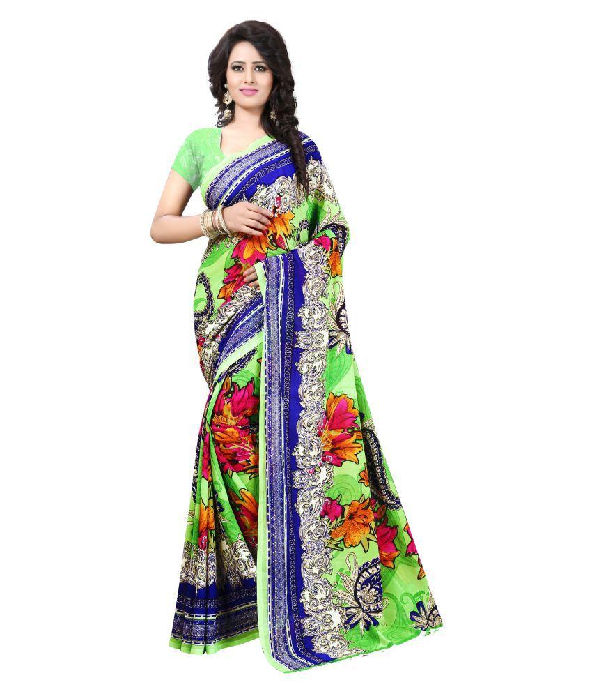 Eshopper Retail Multicoloured Georgette Saree