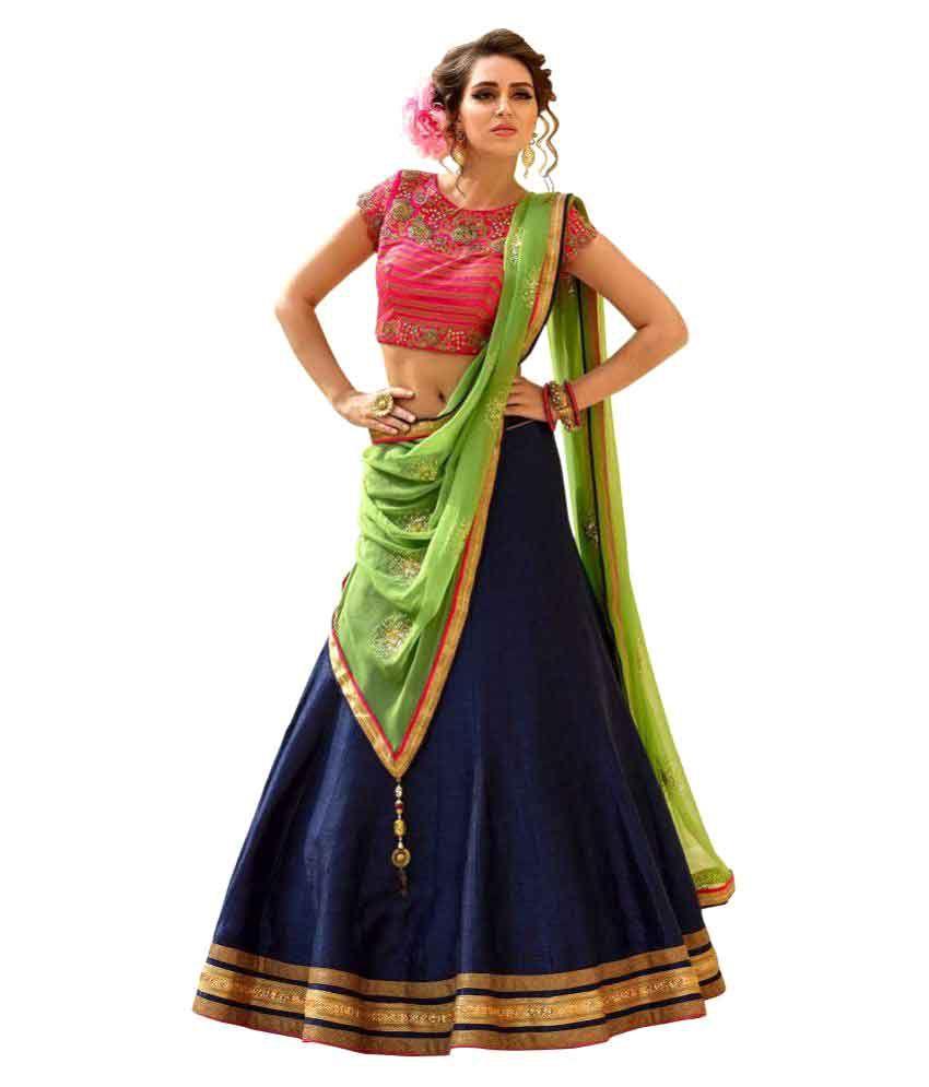 d801b39ed7 Fabboom New Special Multi Embroidery Banglori Silk Lehenga Choli - Buy  Fabboom New Special Multi Embroidery Banglori Silk Lehenga Choli Online at  Low Price ...